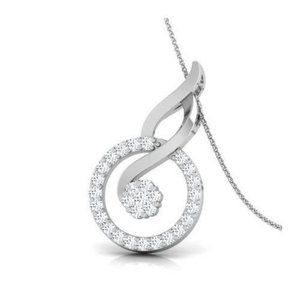 4.5 Carats brilliant cut diamonds pendant necklace
